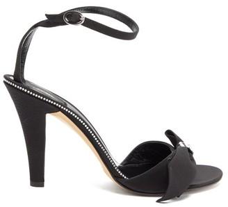 Marc Jacobs Crystal Bow Grosgrain Sandals - Womens - Black