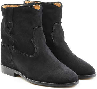 Isabel Marant Suede Wedge Heel Ankle Boots