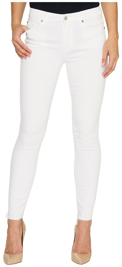 7 For All Mankind7 For All Mankind - The Skinny w/ Step Hem in Clean White Women's Jeans