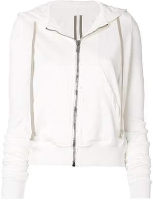 Rick Owens zipped drawstring hoodie