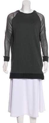 Hache Silk-Accented Knit Sweater