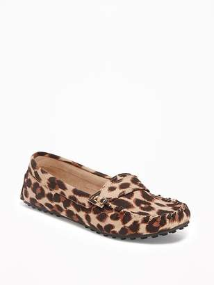 Sueded Leopard-Print Driving Moccasins for Women $24.99 thestylecure.com