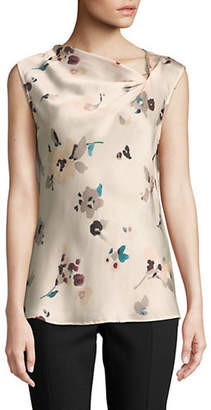 Donna Karan Floral-Print Sleeveless Top