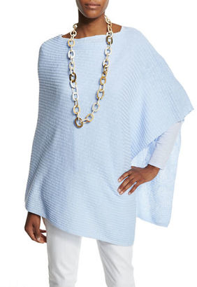 Eileen Fisher Organic Linen Cotton Slub Ribbed Poncho, Plus Size $96 thestylecure.com