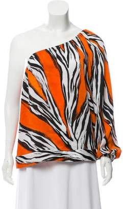 MICHAEL Michael Kors Printed One-Shoulder Top