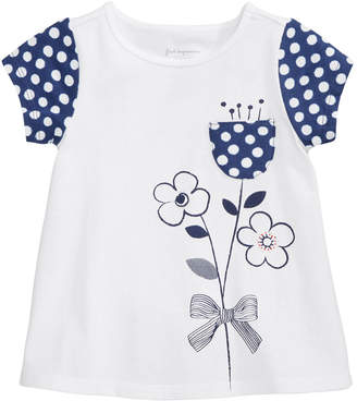 First Impressions Flower Pocket Cotton T-Shirt, Baby Girls, Created for Macy's