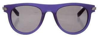 Salvatore Ferragamo Matte Gancini Sunglasses