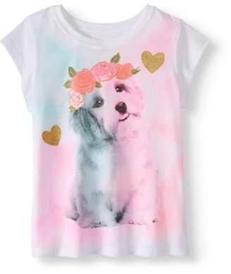 365 Kids From Garanimals Little Girls' 4-8 Short Sleeve Graphic T-Shirt