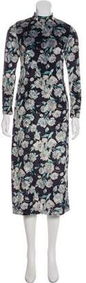 NO.6 STORE Velvet Rose Print Dress
