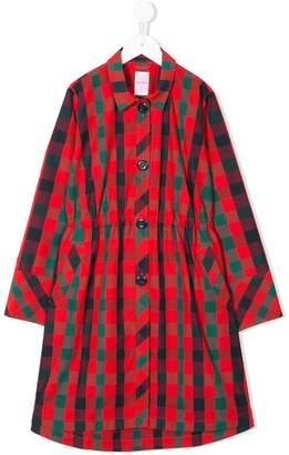 Familiar collared raincoat