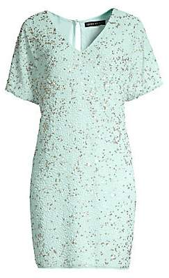 Aidan Mattox Women's Beaded T-Shirt Dress