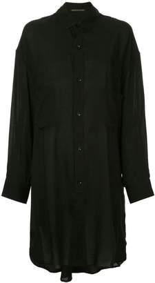 Yohji Yamamoto sheer long-line shirt