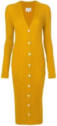 Maison Margiela long ribbed knit cardigan