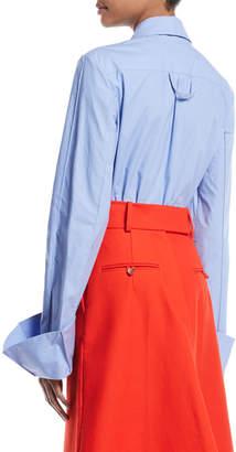 Awake Strict Flared-Cuff Button-Down Long-Sleeve Cotton Shirt