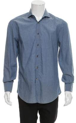 Brunello Cucinelli Abstract Print Button-Up Shirt