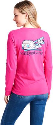 Vineyard Vines Long-Sleeve Snow Bunny Whale Pocket Tee