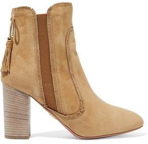 Aquazzura Tristan Fringed Suede Ankle Boots