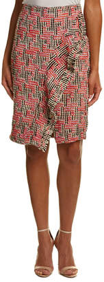 Eva Franco Tweed Wool-Blend Midi Skirt