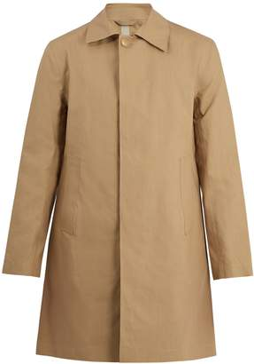 Kilgour Bonded-cotton water-resistant overcoat