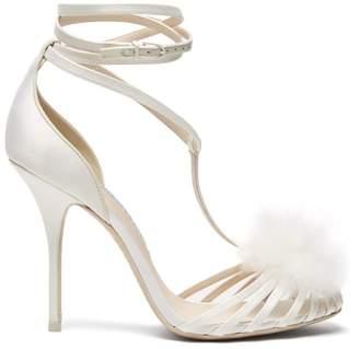 Sophia Webster Jojo Marabou Pompom Embellished Sandals - Womens - White