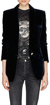 Balmain Women's Velvet Single-Button Blazer