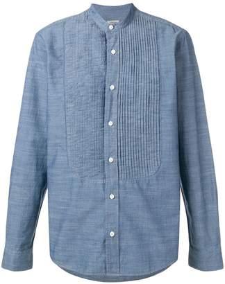 Ermenegildo Zegna pleated front mandarin collar shirt