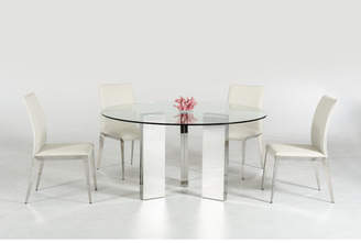 Orren Ellis Clower Metal Base Dining Table