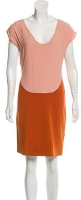 Diane von Furstenberg Sleeveless Color-Block dress