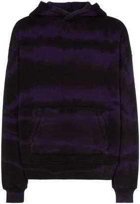 Amiri Shotgun tie-dye hooded jumper