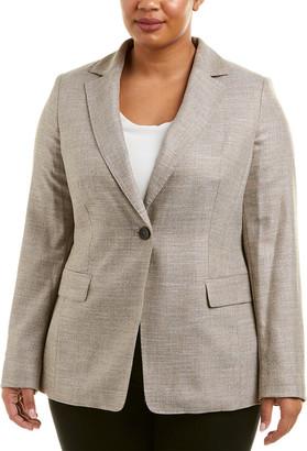 Marina Rinaldi Plus Wool-Blend Blazer