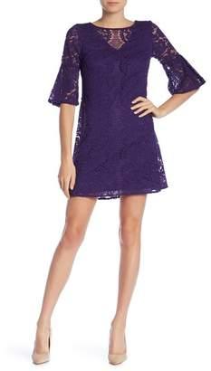 Gabby Skye Elbow Sleeve Lace Dress