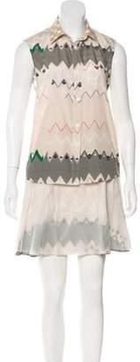 Timo Weiland Printed Skirt Set Beige Printed Skirt Set