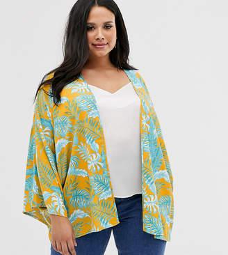 Asos DESIGN Curve palm print kimono