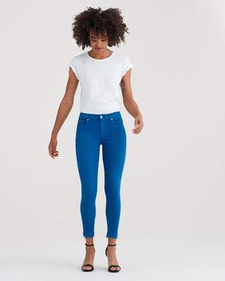 7 For All Mankind Ankle Skinny with Released Hem in Cobalt Blue