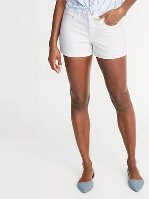 Old Navy Mid-Rise White Denim Shorts for Women - 3-inch inseam