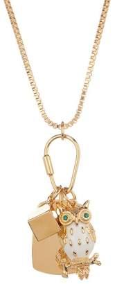 Trina Turk Owl Charm Pendant Necklace