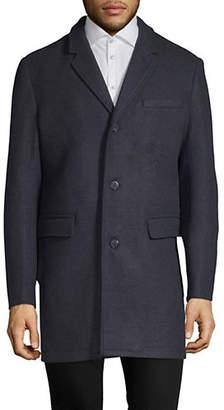 London Fog Stretch Wool-Blend Topper Coat