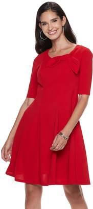 Elle Women's Bow Fit & Flare Dress