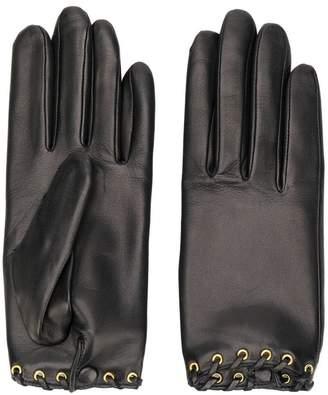 Agnelle rivet leather gloves