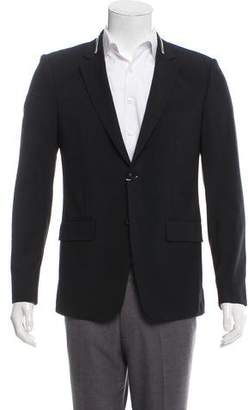 Givenchy Zipper-Accented Wool Blazer