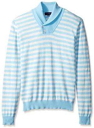 Thirty Five Kent Men's Brushed Cotton Stripe Shawl Collar
