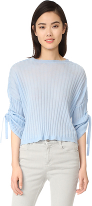 Helmut Lang Cashmere Tie Sleeve Pullover $380 thestylecure.com