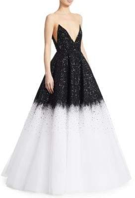 Oscar de la Renta Illusion Ball Gown