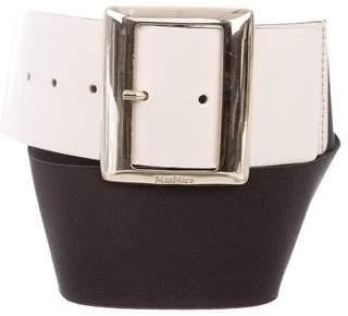 Max Mara Leather Elasticized Belt