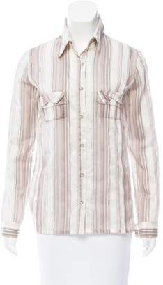 Roland Mouret Striped Button-Up Top