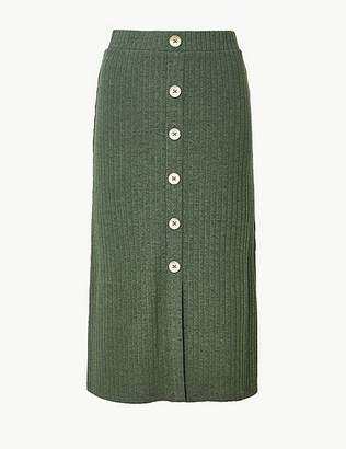 Marks and Spencer Textured Jersey Pencil Midi Skirt