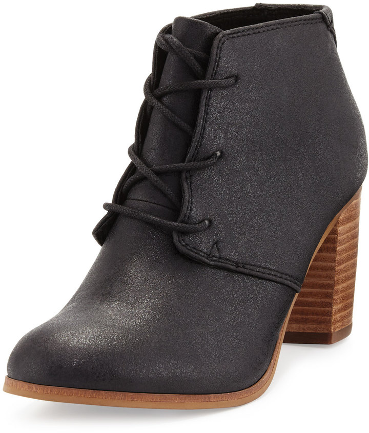 TOMS Lunata Faux-Leather Ankle Boot, Black 2