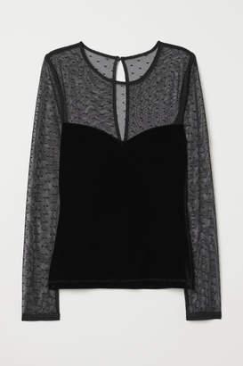 H&M Velour Top - Black