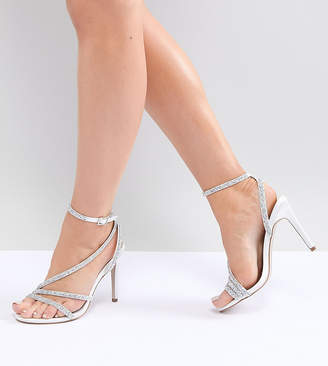 Asos Design Hypnotic Wide Fit Bridal Embellished Heeled Sandals