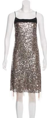 DKNY Sequin Embellished Midi Dress
